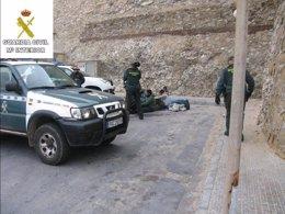 Operativo Guardia Civil en Melilla contra inmigración irregular
