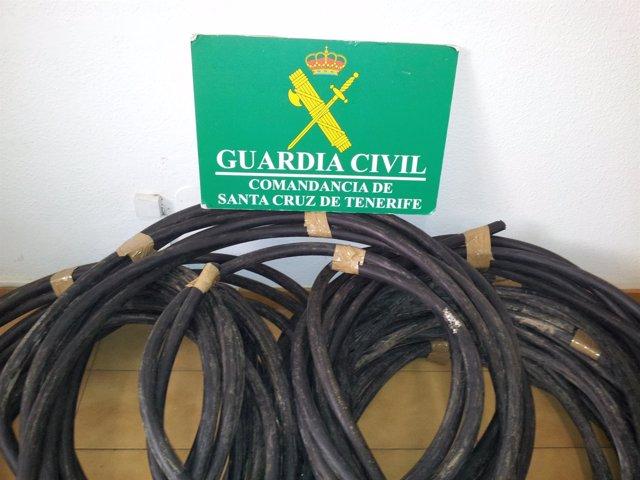 Cable de cobre sustraído
