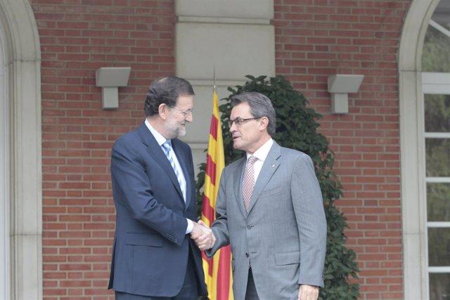 Artur Mas y Mariano Rajoy se reúnen en la Moncloa (Archivo)