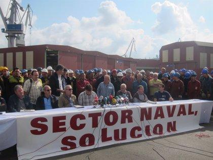 Los trabajadores de La Naval finalizan su encierro de 24 horas para pedir carga de trabajo