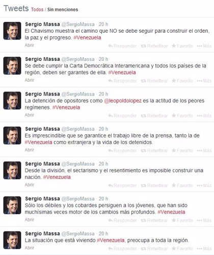 """Massa: """"Sólo los débiles y los cobardes persiguen a los jóvenes"""""""