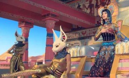 Katy Perry viaja a Egipto en el vídeo de 'Dark Horse'