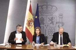 Consejo de Ministros, Gallardón, Santamaría y Jorge Fernández Díaz