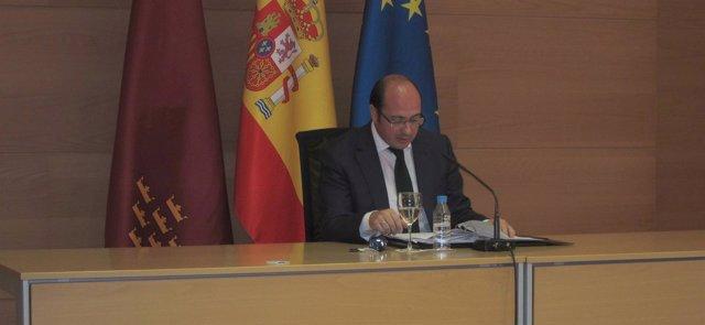 Sánchez en la rueda de prensa posterior al Consejo de Gobierno