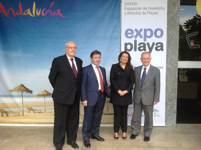 Carmen Crespo en la inauguración de Expoplaya 2014