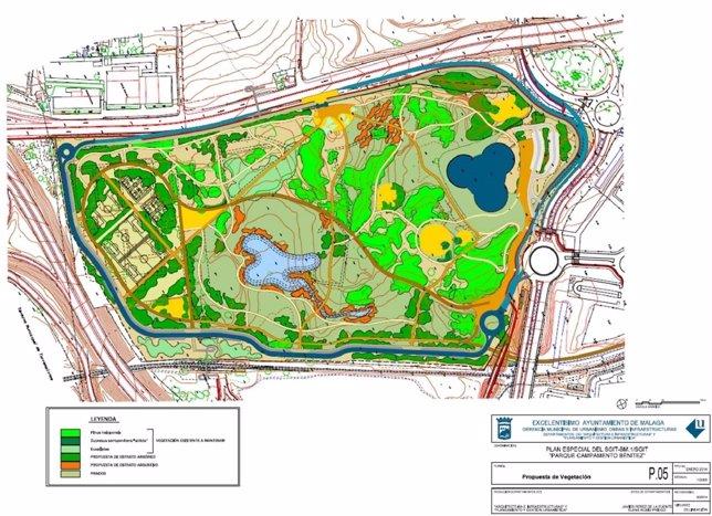 Propusta de vegetación del futuro parque del Benítez
