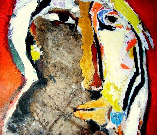 Detalle de 'El barbero', de Aurelio Teno, que se exhibe en esta primera muestra