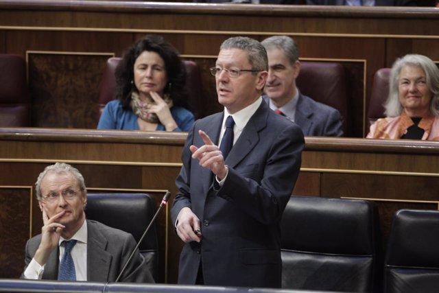 El ministro de Justicia, Alberto Ruiz Gallardón,