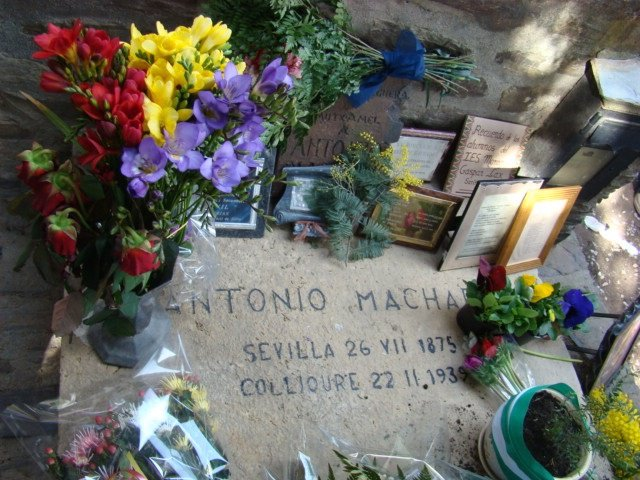 Tumba de Antonio Machado en Colliure