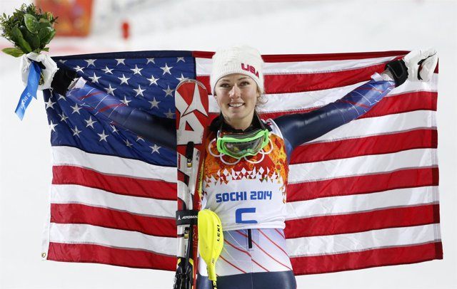 La esquiadora estadounidense Mikaela Shiffrin