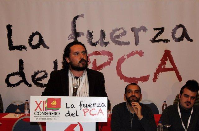 El alcalde de Medina Sidonia, Fernando Macías, en el Congreso del PCA