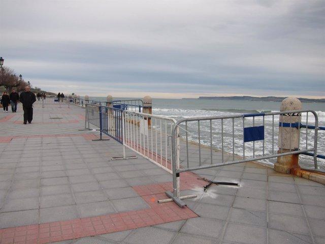 Daños del temporal en Santander