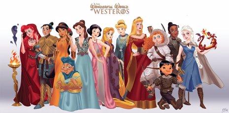 ¿Y Si Las Mujeres De Juego De Tronos Fueran Personajes De Disney