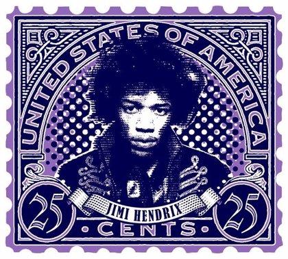 Jimi Hendrix, Janis Joplin y James Brown aparecerán en sellos postales