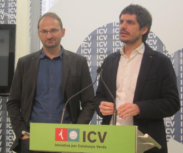 Joan Herrera y Ernest Urtasun, ICV