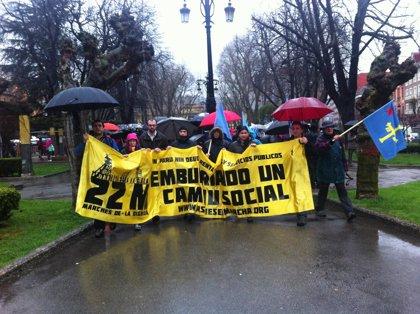 Más de mil personas se manifiestan con la 'Marcha de la dignidad' de Asturias