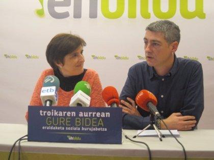 EH Bildu celebra un acto internacional en Bilbao contra la política de la Troika previo a la cumbre económica