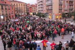 Protesta por los derechos sociales en Valladolid