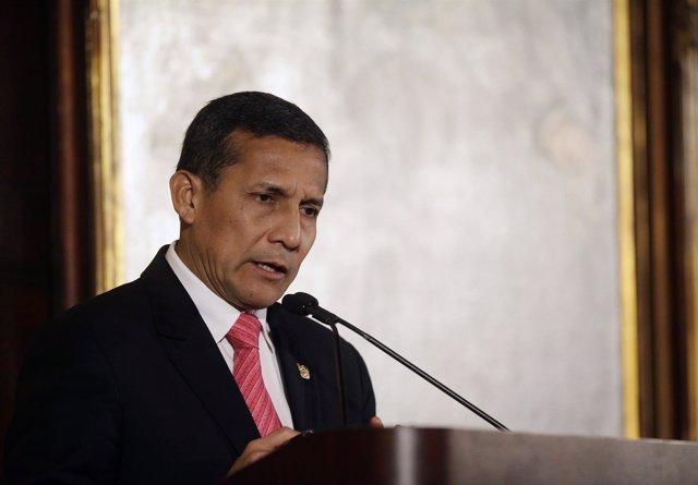 El presidente de Peú, Ollanta Humala.