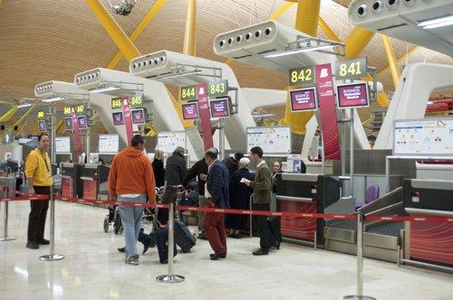 Mostrador de facturación de Iberia