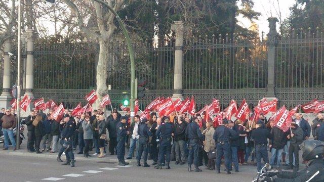 Vigilantes de seguridad de los juzgados se concentran este jueves en Plaza de Castilla