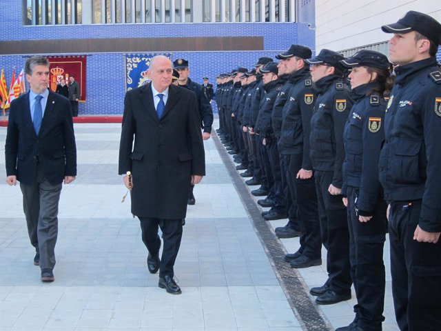 El ministro Jorge Fernández y el dtor.De la Policía Ignacio Cosidó