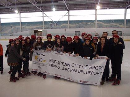 Gamarra destaca la campaña escolar de 'Logroño Deporte' para acercar a la juventud a la práctica deportiva