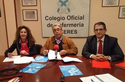 Un convenio entre el Colegio de Enfermería cacereño y el Banco Santander facilita formación y financiación de consultas