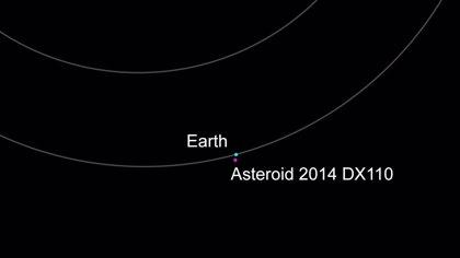 Un asteroide pasa este miércoles a una distancia inferior a la de la Luna