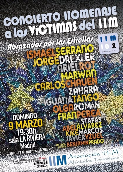 Concierto homenaje a las víctimas del 11M este domingo en Madrid