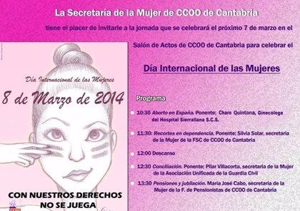 CANTABRIA.-CCOO celebra hoy una jornada reivindicativa con motivo del Día Internacional de la Mujer