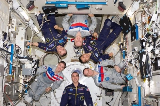 Tripulación de la ISS en marzo de 2014