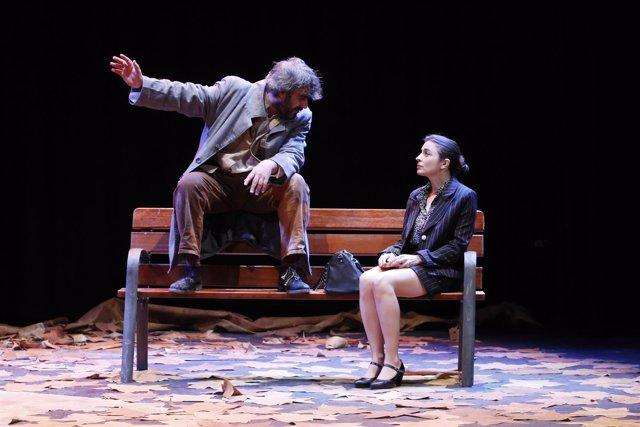 Jesús Garrido y Manuela Luna, en un momento de la obra