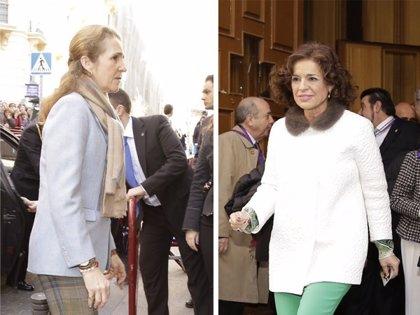 La Infanta Elena muy pendiente del ataque epiléptico que sufre un hombre en Medinaceli