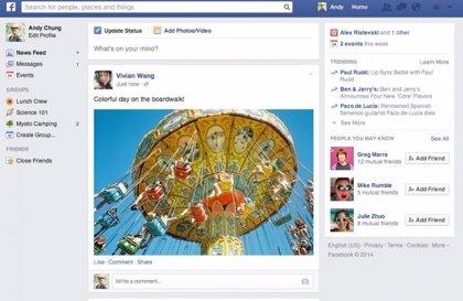 Facebook presenta un nuevo diseño más visual para la sección de noticias