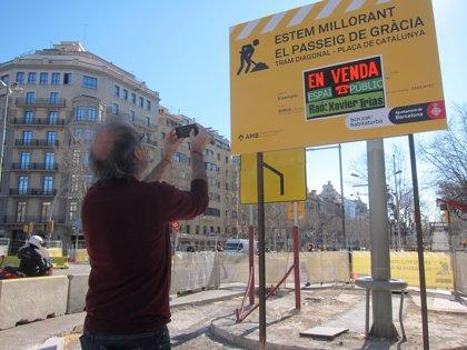 """Una campaña de las juventudes de ICV reprocha a Trias que pone """"Barcelona en venta"""""""