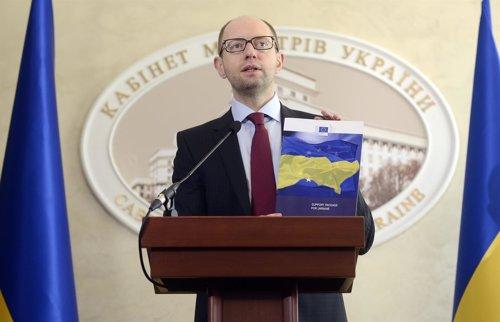 El primer ministro ucraniano Arseni Yatseniuk.