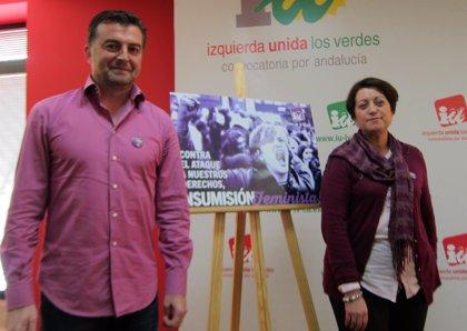 """IU llama a la """"insumisión feminista"""" contra el ataque a derechos y a la participación en manifestaciones de este sábado"""