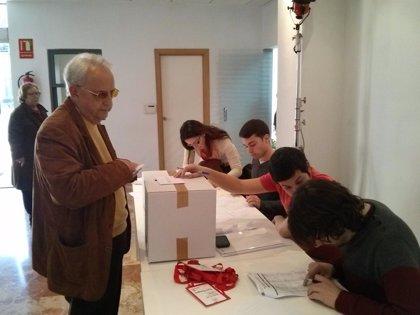La participación en las primarias del PSPV se sitúa en el 45,13% hasta las 13.00 horas