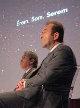 F.Homs (portavoz Generalitat) Miquel Calçada (comisario Tricentenari)