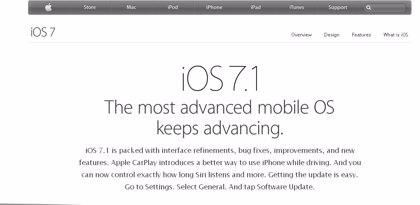 Apple lanza iOS 7.1, con mejoras en el 'software' y seguridad, y compatible con CarPlay
