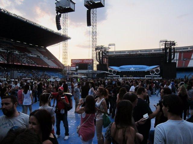 Público en concierto de Bon Jovi en Madrid