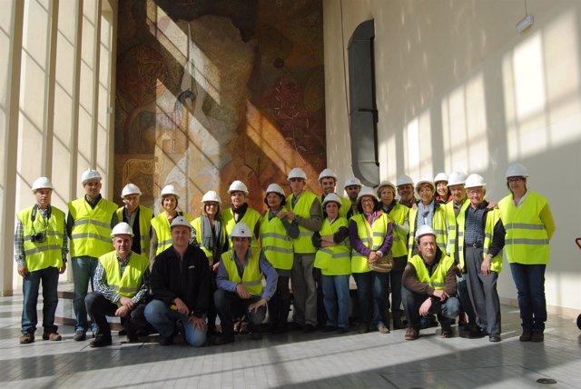 Durante una de las visitas en la Central Hidroléctrica de Vilanova de Sau