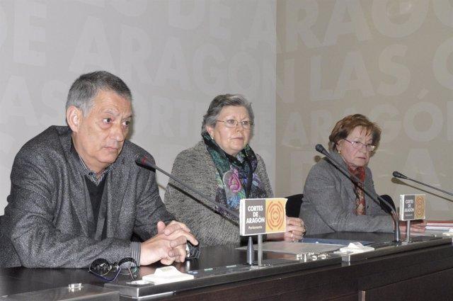 Miembros de la Plataforma por la Salud Mental en los Barrios de Zaragoza