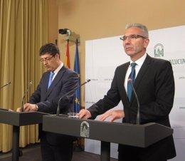 Diego Valderas y Miguel Ángel Vázquez, este martes
