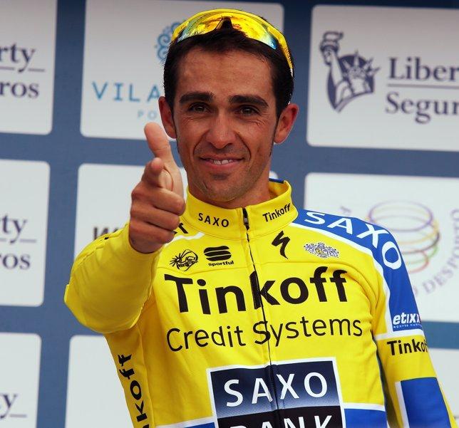 Alberto Contador en la Vuelta al Algarve
