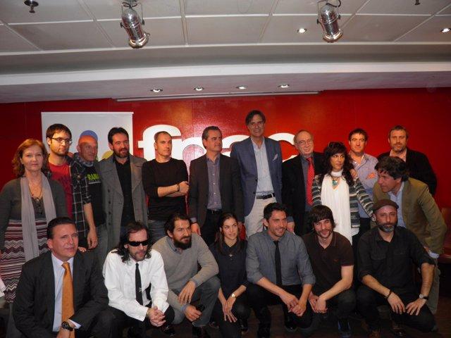 Cineastas y organizadores del festival de Málaga durante la presentación