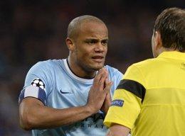 Vincent Kompany, jugador y capitán del Manchester City