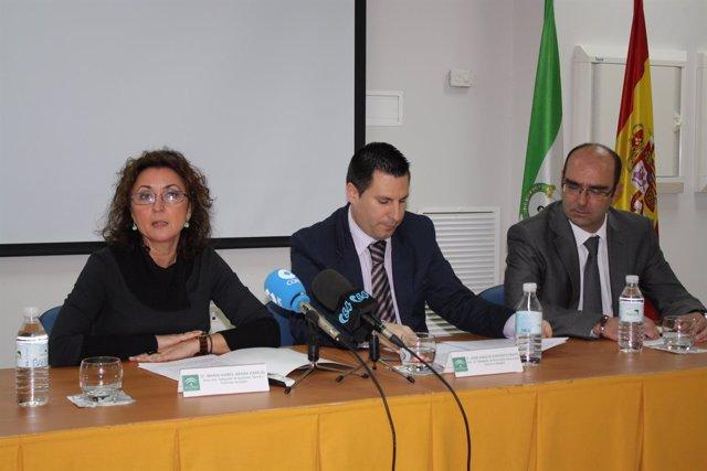 Baena, Expósito y Director del Área Sanitaria Área Norte, José Ruiz
