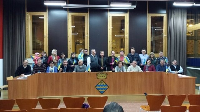Los concejales de Guissona mostraron su apoyo a sus vecinos de Ucrania
